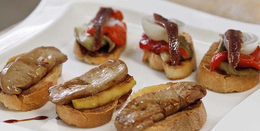 Celebrar boda en invierno aperitivos foie