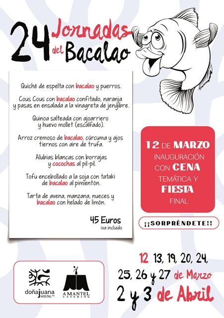 Carta jornadas del bacalao