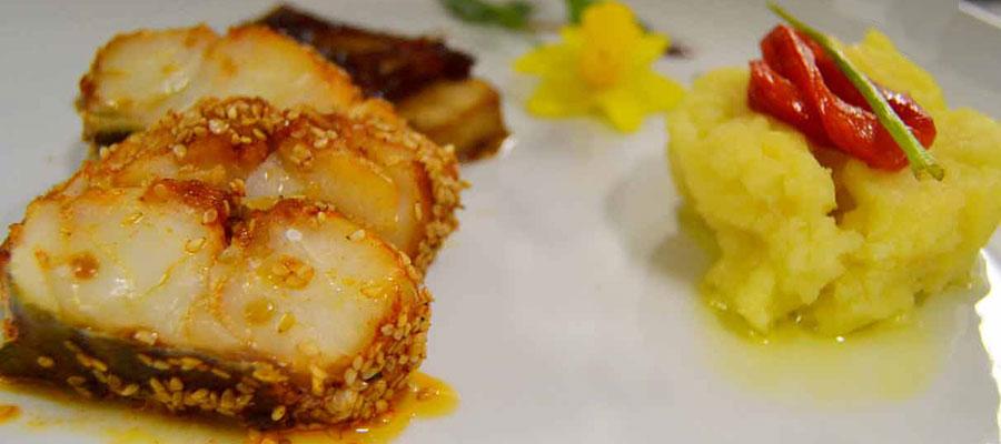 El bacalao se mezcla con tofu